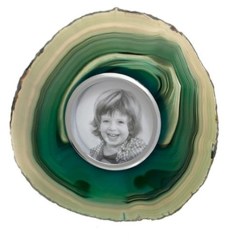 Obra Agate Photo Frame, Grass (Small)