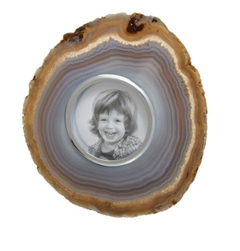 Obra Agate Photo Frame, Smoke (Small)