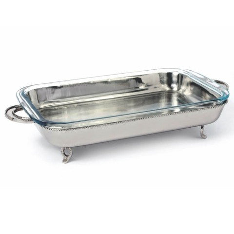 Georgian Rectangular Server with Glass Baking Dish