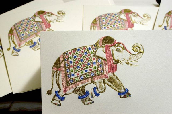 Engraved Elephant Note Card Set
