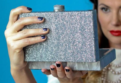 """Twilight"" Acrylic Clutch with Druzy Clasp"