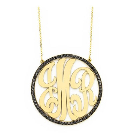 Diamond Cutout Monogram, Large