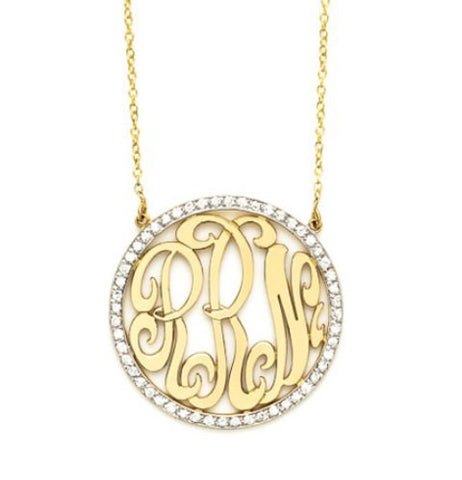 Diamond Cutout Monogram, Medium