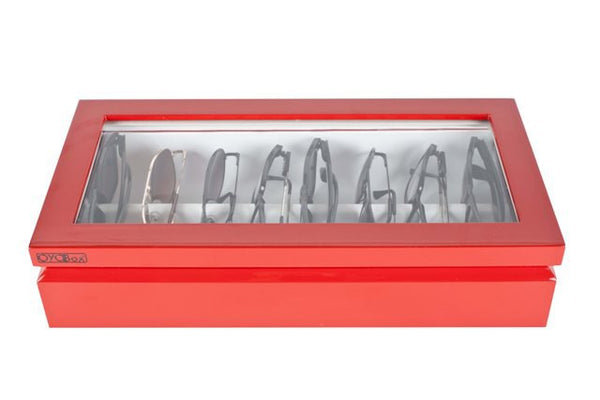 Eyewear Organizer Box, Red Lacquer