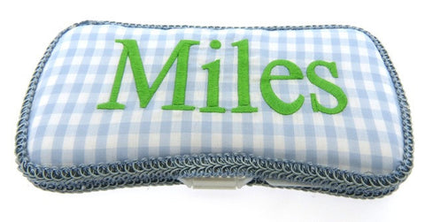 Personalized Baby Wipe Case, Blue & Green (Travel Size)