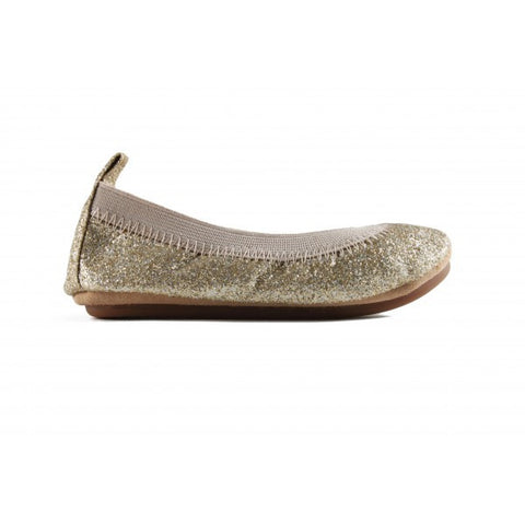 Glitter Ballet Flats, Gold (Toddler)