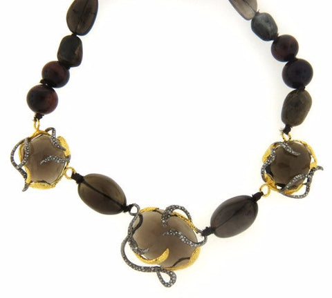 Sunset Vine Smokey Quartz Necklace