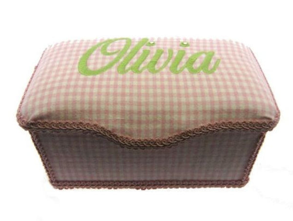 Personalized Baby Wipe Case, Preppy Gingham (Full Size)