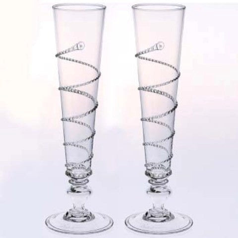 Amalia Champagne Flutes, Pair (Gift Boxed)