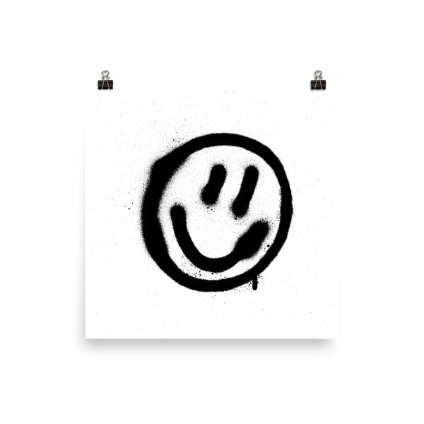 #SMILE GRAFFITI ART PRINT BY S.S. HART