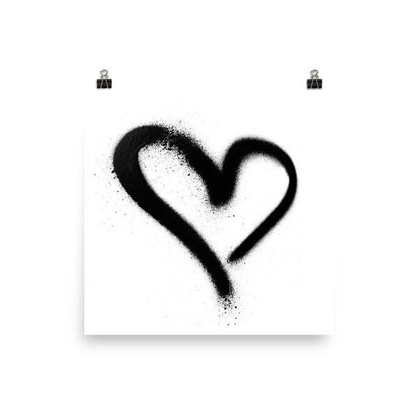 #LOVE GRAFFITI ART PRINT