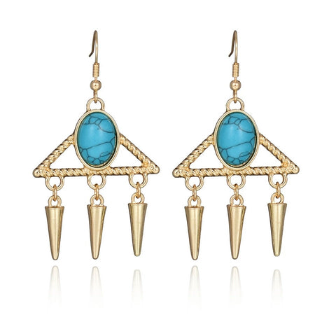 Baublebeads Turquoise stone Drop Earrings