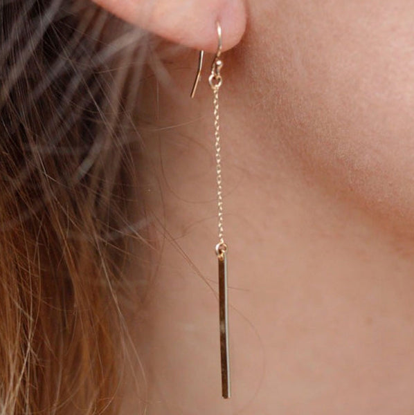 Baublebeads Gold Bar Drop Earrings