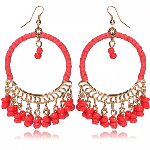 Baublebeads beaded Hoop earrings