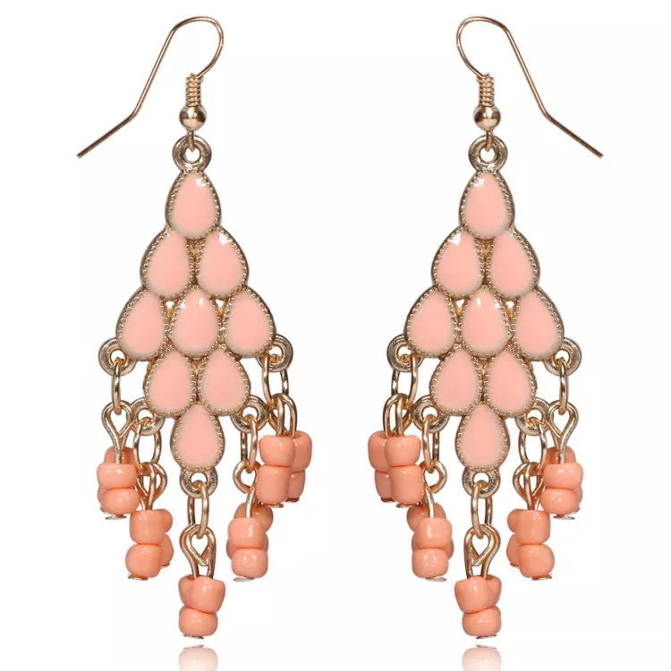 Baublebeads Peach Drop Earrings