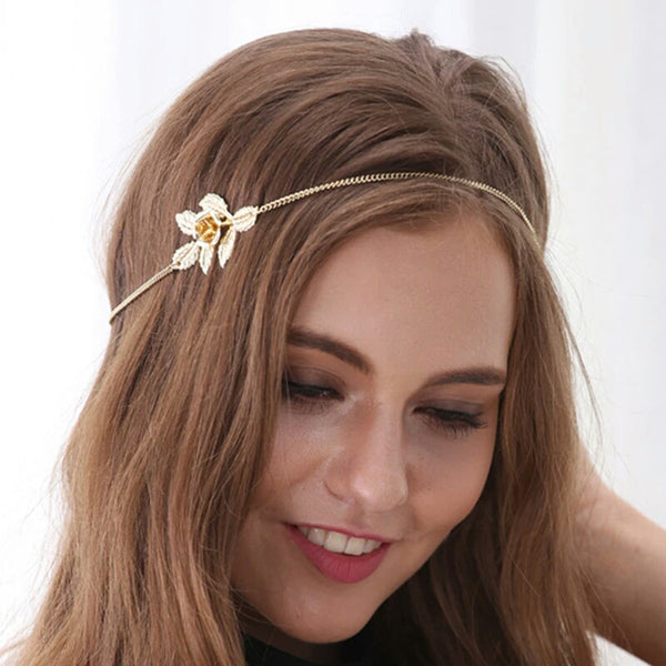 Baublebeads Gold Leaf Stretch Hair Band