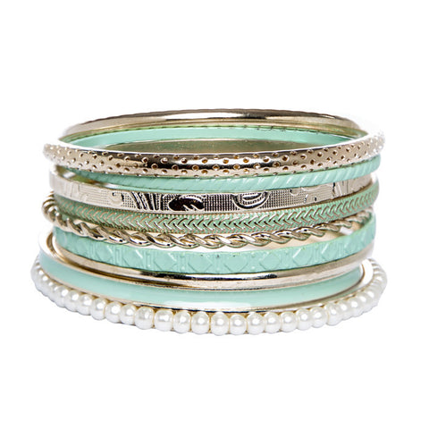 Rosa Green and Gold Bangles
