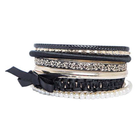 Giselle Black and Gold Bangles