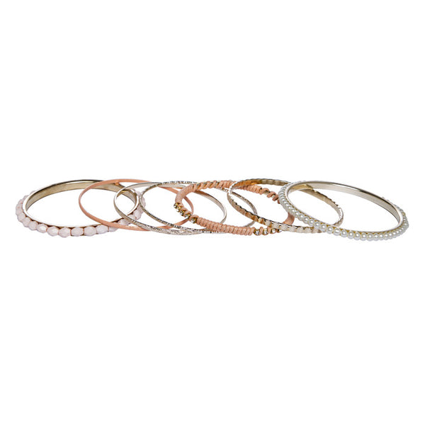 Thea Pink Threaded Stone Studded Bangles