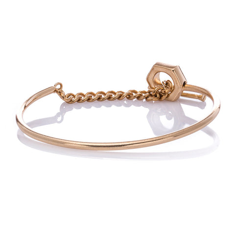 Chain link Bolt and Screw Bracelet