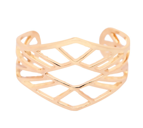 Alyssa Geometric Gold Cuff