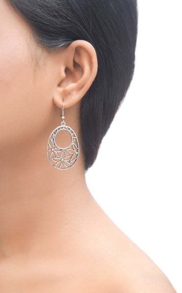 Floral Cut Out Teardrop Earrings