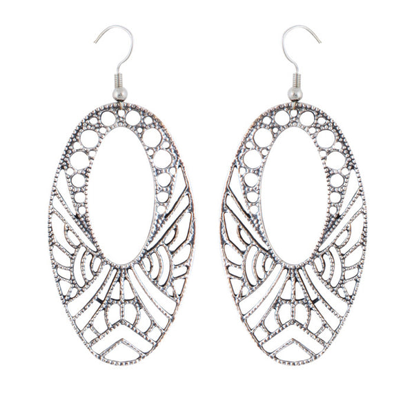 Ethnic Cut Out Teardrop Earrings