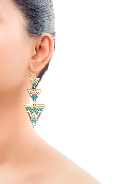 Delia Aztec Drop Earrings