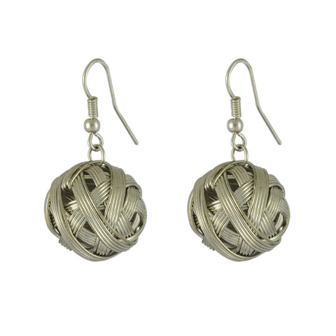 Ally Braided Ball Drop Earrings