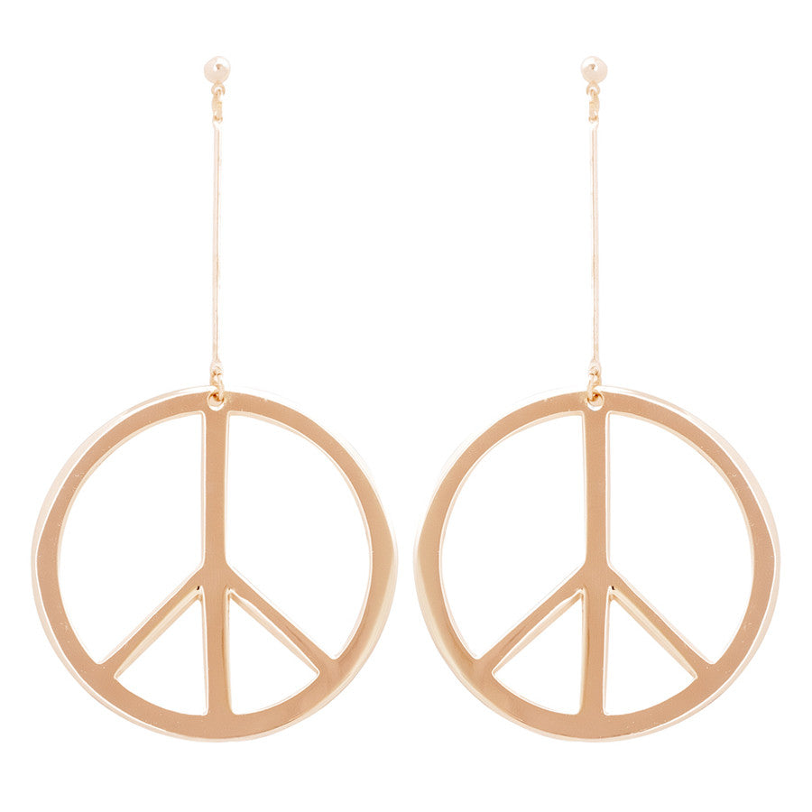 Let there be Peace Drop Earrings