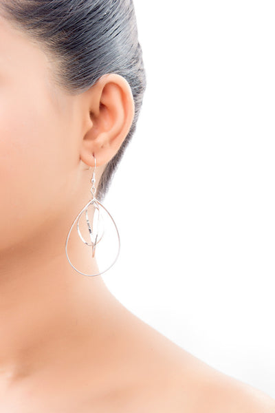 Three Layered Teardrop Drop Earrings