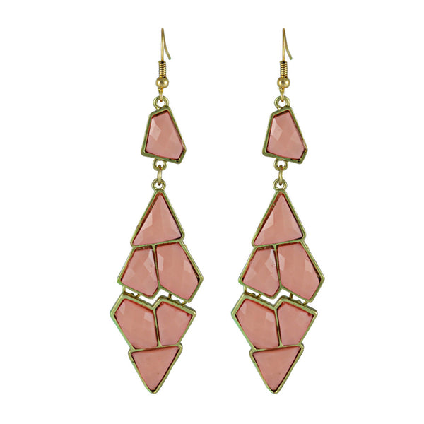 Kalle Pink Geometric Drop Earrings