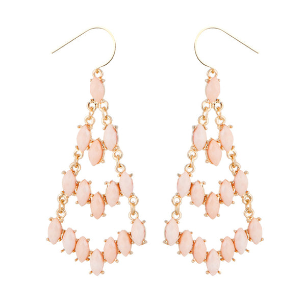 Delia Pink Ascension Drop Earrings