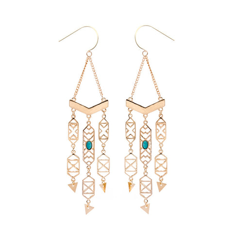 Lillian Aztec Statement Drop Earrings