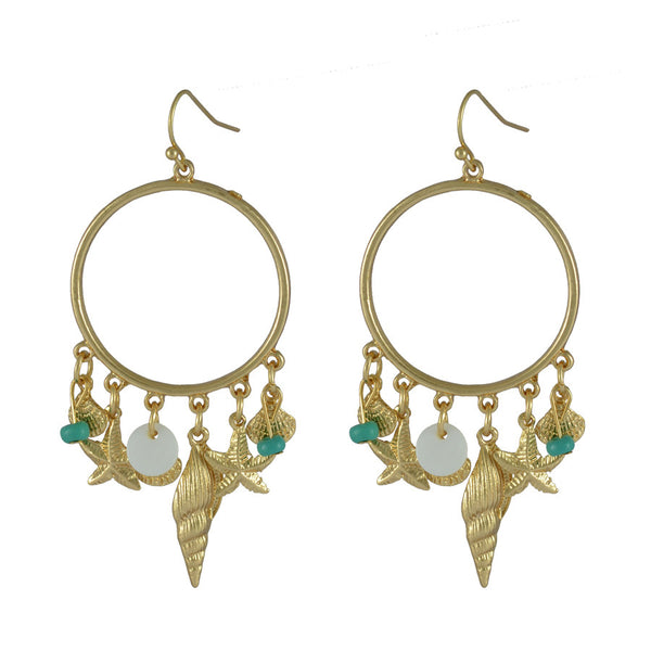 Mei Aqua Drop Earrings