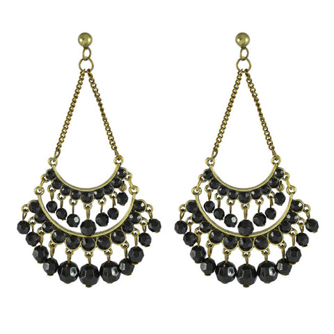 Noor Beaded Mughal Statement Drop Earrings