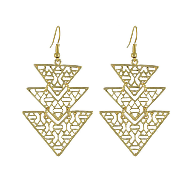 Tatum Aztec Cut Work Drop Earrings