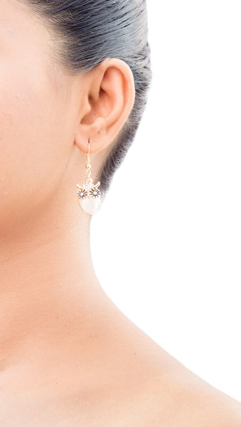 Val Owl Drop Earrings