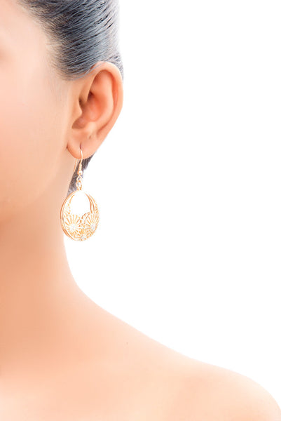 Amaya Geisha Fan Drop Earrings