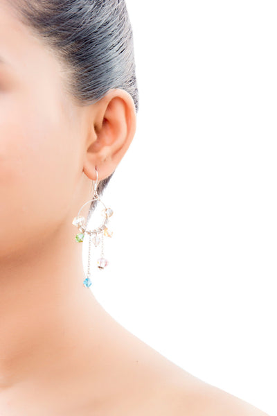 Vivid Multicoloured Drop Earrings