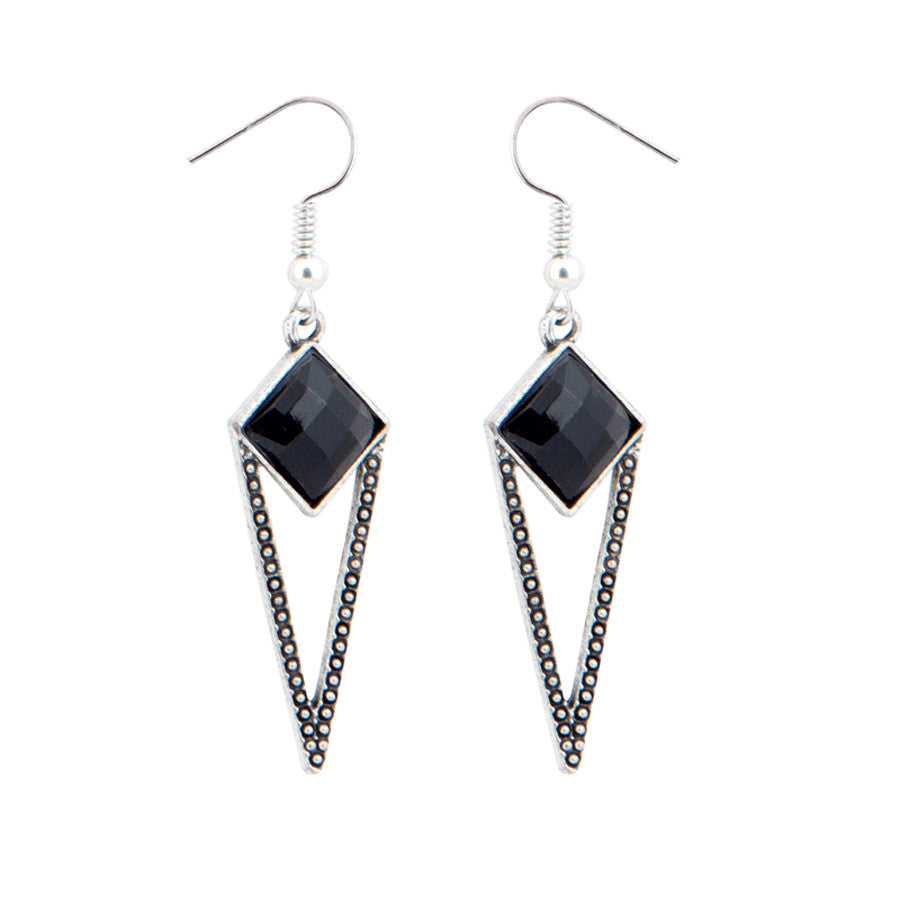 Nina Geometric Stone Drop Earrings