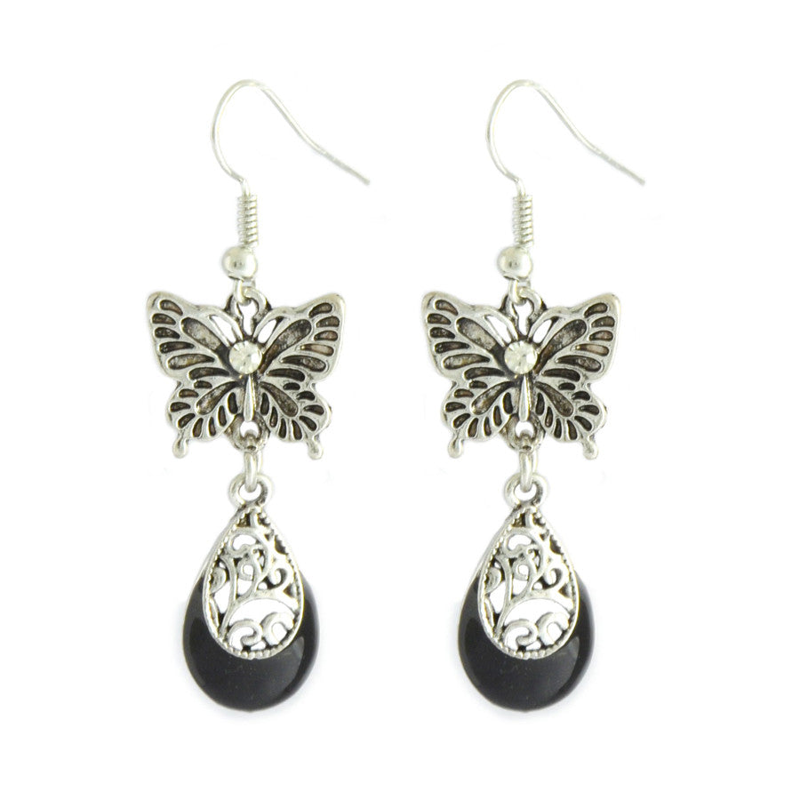 Brin Butterfly Drop Earrings
