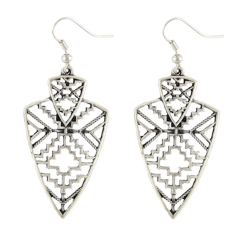 Aimee Aztec Shield Drop Earrings