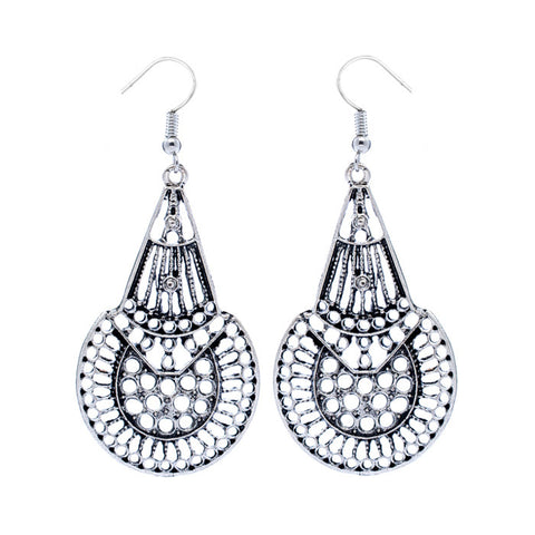 Kylee Geometric Fusion Chandelier Drop Earrings