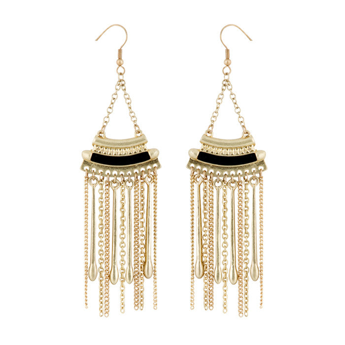 Tribal Tassel Drop Earrings