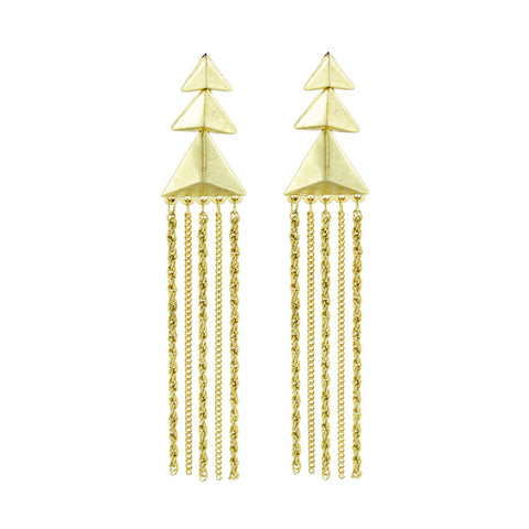 Callie Stacked Pyramid Drop Earrings