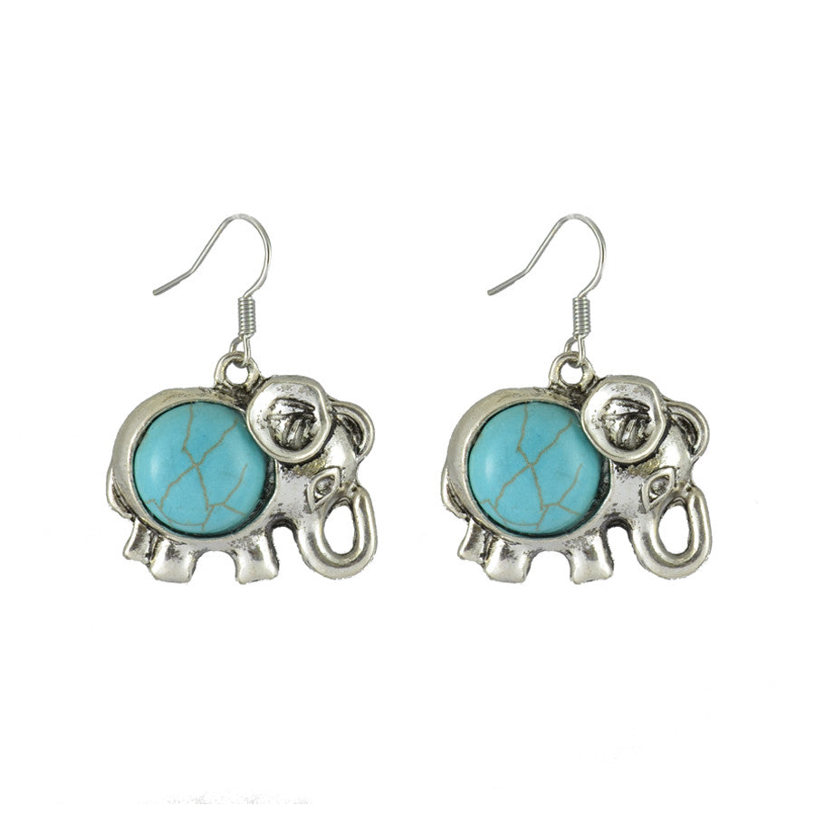 Jumbo Turquoise Drop Earrings