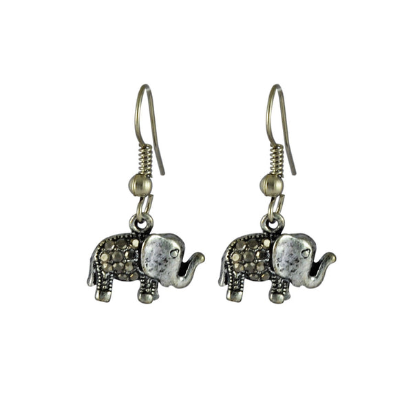 Baby Elephant Drop Earrings