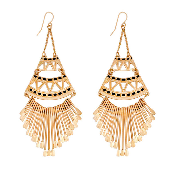 Willow Aztec Windchime Drop Earrings