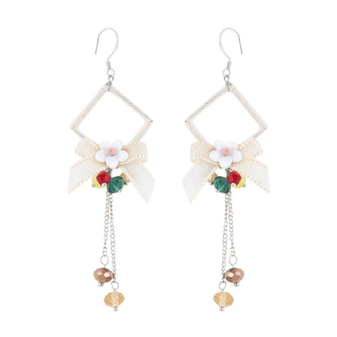 Bessy Floral Bow Drop Earrings